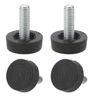 M6 x 18 x 25mm Leveling Feet Adjustable Leveler Protector for Table Leg 4pcs