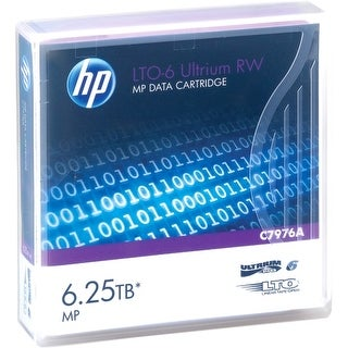 Hewlett Packard C7976A HP LTO-6 Ultrium 6.25TB MP RW Data Cartridge - LTO-6 - 2.