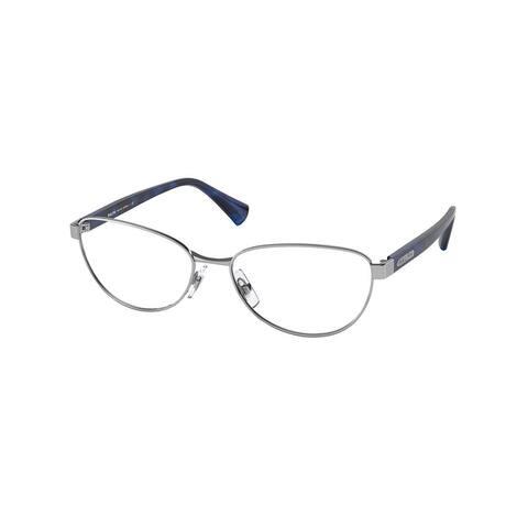 Ralph RA6048 9001 53 Shiny Silver Woman Butterfly Eyeglasses