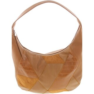 Nine West Womens Hobo Handbag Faux Leather Patchwork - LARGE