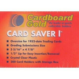 200 Cardboard Gold Card Saver 1 Semi-rigid Card Holders -PSA Submission Size
