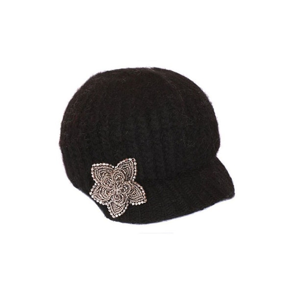 Knitted Newsboy Cap with Star