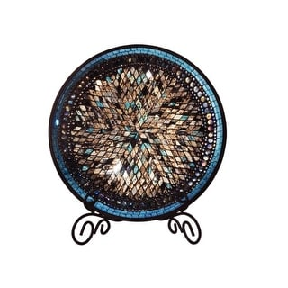Dale Tiffany AV15431 Blue Moon 16 Inch Tall Decorative Charger Plate
