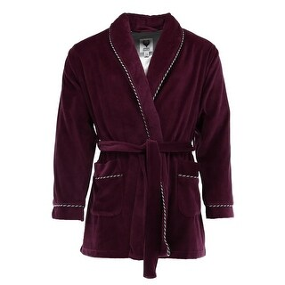 Ascentix Men's Velour Smoking Jacket with Satin Lining