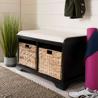 """Link to Old Stone Distressed Black Storage Bench - 33.5"""" x 16.1"""" x 19.9"""" Similar Items in Living Room Furniture"""