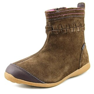 Stride Rite M2P Patricia Youth Round Toe Suede Brown Winter Boot