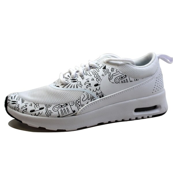 Nike, Air Max Thea, Women's, Size 8, Black, White w Design, Running Shoes,