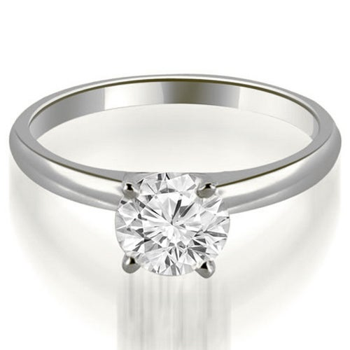 0.50 cttw. 14K White Gold Four Prong Classic Round Cut Solitaire Diamond Ring