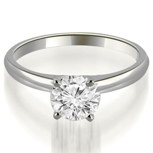 1.00 cttw. 14K White Gold Four Prong Classic Round Cut Solitaire Diamond Ring