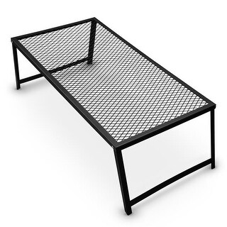 Brybelly Steel Mesh Over Fire Camping Grill Gate, Family Size