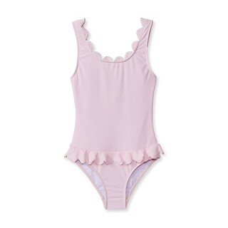 Stella Cove Baby Girls Pink Scalloped Trendy One Piece Swimsuit - 12 months