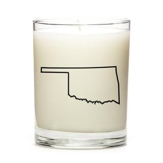 Custom Gift - Map Outline of Oklahoma U.S State, Lemon