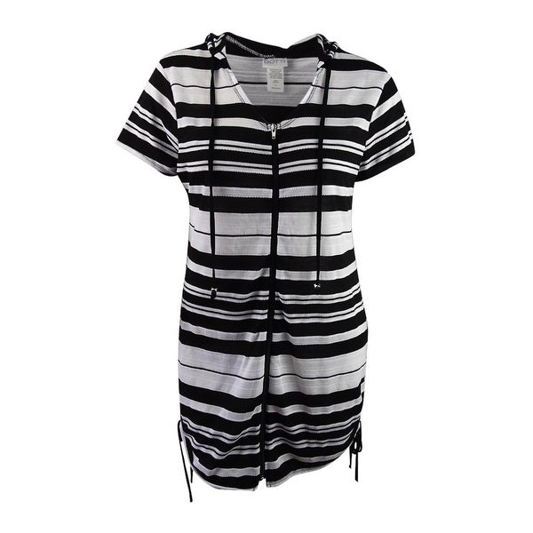 150580ec51 Shop Dotti Women's Striped Hoodie Cover-Up - Free Shipping On Orders Over  $45 - Overstock - 21139359