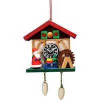 ULBR 10-0566 Christian Ulbricht Ornament - Cuckoo Clock Santa