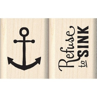 "Inkadinkado Mounted Rubber Stamp Set 2""X2""-Refuse To Sink"