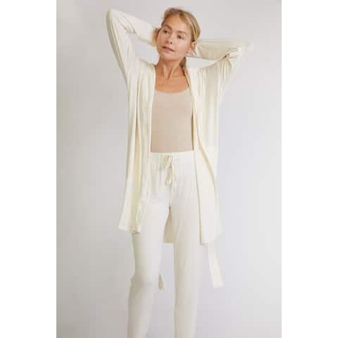 Soft Premium Bamboo Bathrobe with Hood and Pants Set