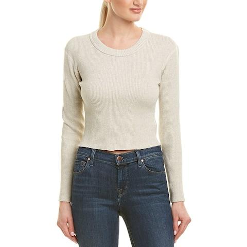 Monrow Raw Cropped Sweater