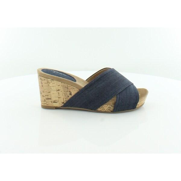 Style & Co. Jillee Women's Sandals & Flip Flops Indigo - 5.5
