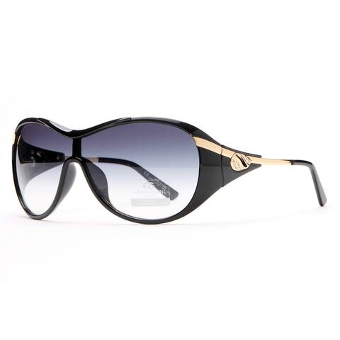 Anais Gvani Glam Shield Fashion Sunglasses With Gold Temple Accent By Dasein