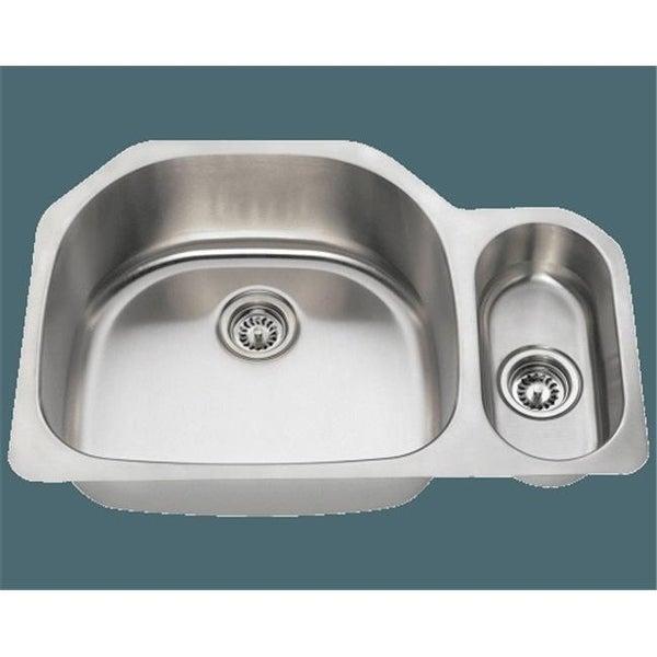 Shop Polaris Pl123 16 Offset Double Bowl Stainless Steel Sink Free