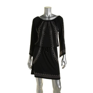 MICHAEL Michael Kors Womens Embellished Blouson Cocktail Dress