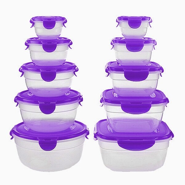 Lock&Lock Plastic 20 Piece Food Storage Container Set