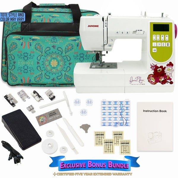 Janome AMH M100 Computerized Sewing Machine with Bonus Bundle