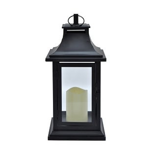 Three Hands 11466 Metal Lantern W/Led Candle - Black