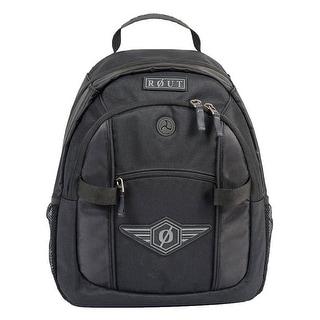 ROUT Adventurer Day Backpack, Strong Wear-Resistant Nylon, Solid Black RBP9137