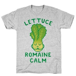 Lettuce Romaine Calm Athletic Gray Men's Cotton Tee by LookHUMAN
