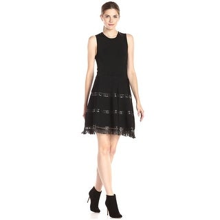 Parker Serene Fit And Flare Sweater Cocktail Dress - xs