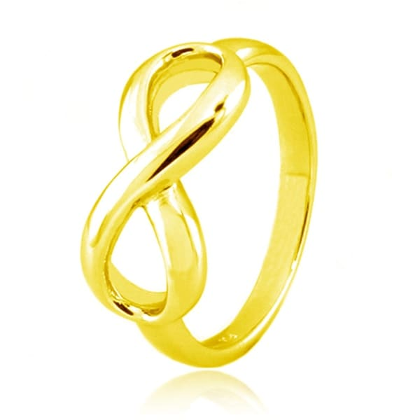 Sterling Silver Gold Plated Infinity Ring