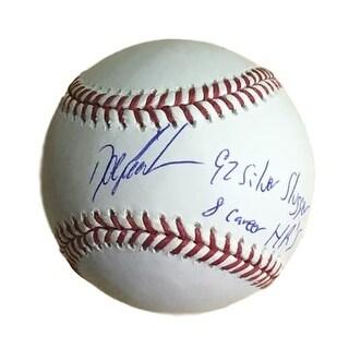 Dwight Gooden Autographed OML New York Mets Baseball W92 Silver Slugger HR
