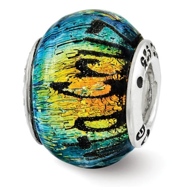 Sterling Silver Reflections Santa Cruz Dichroic Glass Bead (4mm Diameter Hole)