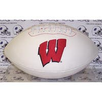 """Wisconsin Badgers Embroidered Logo """"Signature Series"""" Football"""