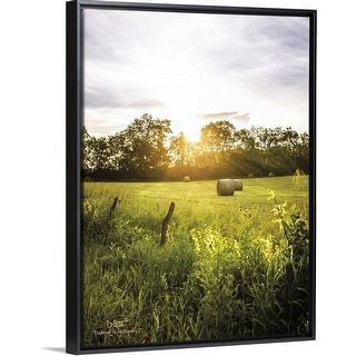 """""""Daybreak in the Country I"""" Black Float Frame Canvas Art"""
