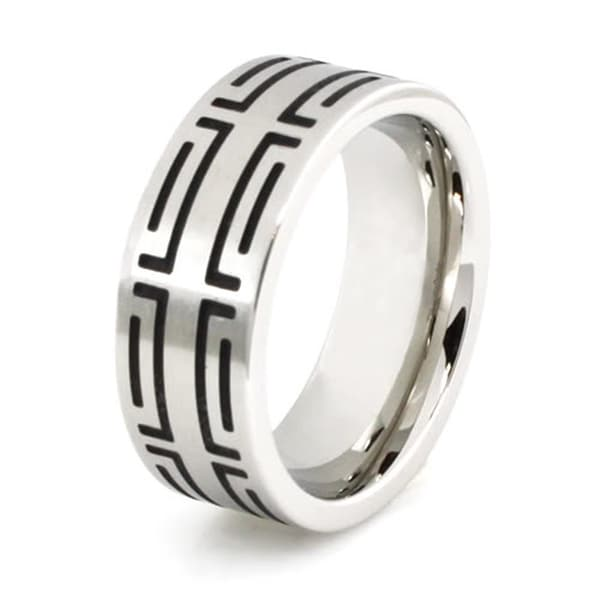 Stainless Steel Ring w/ Contemporary Design