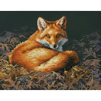 """Sunlit Fox Counted Cross Stitch Kit-14""""X11"""" 14 Count"""