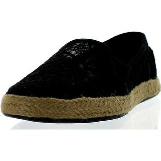 Bobs From Skechers Womens Flexpadrille Lace Flats Shoes - Black