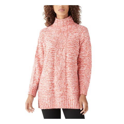 LUCKY BRAND Orange Long Sleeve Tunic Sweater S