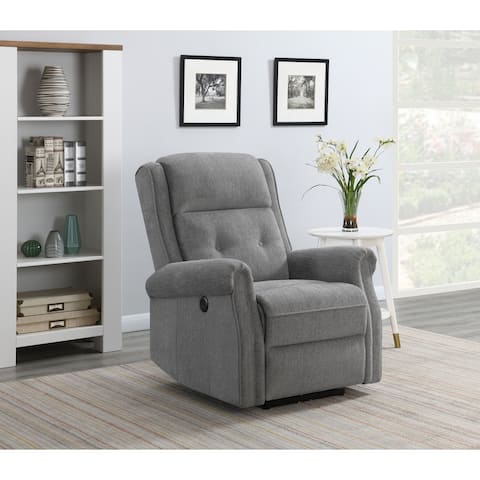Upholstered Round Arm Power Recliner