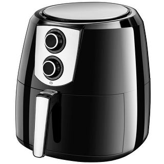 Costway Electric Air Fryer 1800W 5.5 Quart Oil Free with Timer and Temperature Control - Black