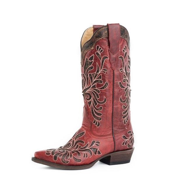 ac914c2cc5c Stetson Fashion Boots Womens Fashion Snip Red