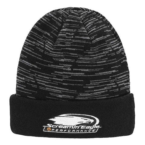 ef744001b1f37 Harley-Davidson Men s Screamin  Eagle Reversible Cyclone Knit Cap HARLMH0337