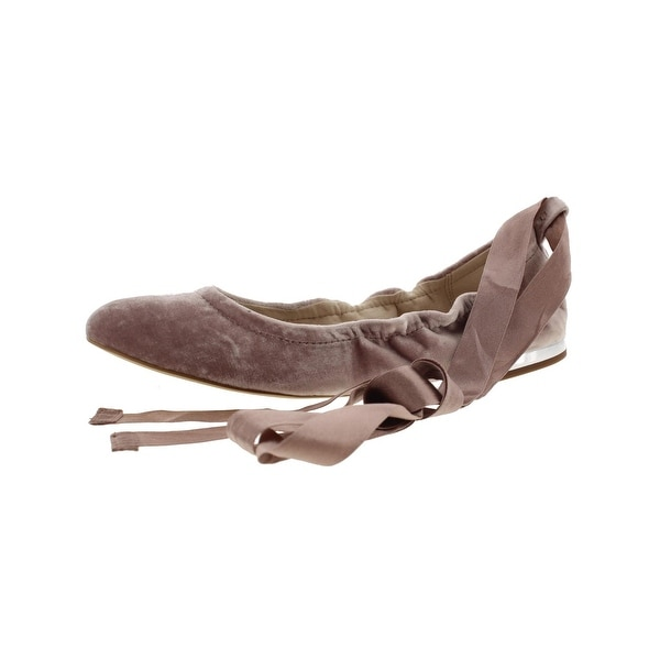 ef63fd6ae1db Shop Sam Edelman Womens Fallon Ballet Flats Solid Ankle Wrap - Free ...