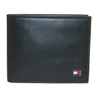 Tommy Hilfiger Men's Leather Slim Billfold Wallet - one size