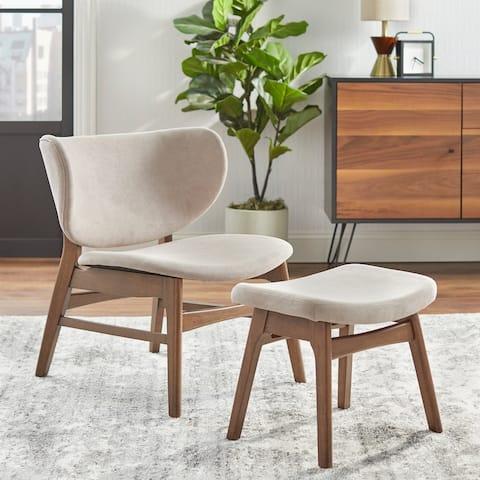 Lifestorey Divo Lounge Chair and Ottoman Set