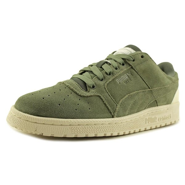 Puma Sky II Lo Men Round Toe Suede Green Sneakers