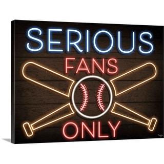 """""""Neon Baseball Fans"""" Canvas Wall Art"""