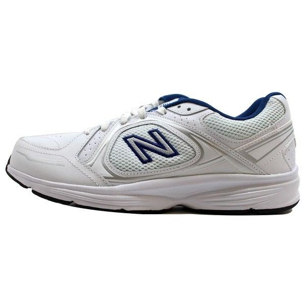 New Balance Men's Health Walker White/Blue MW655WT2